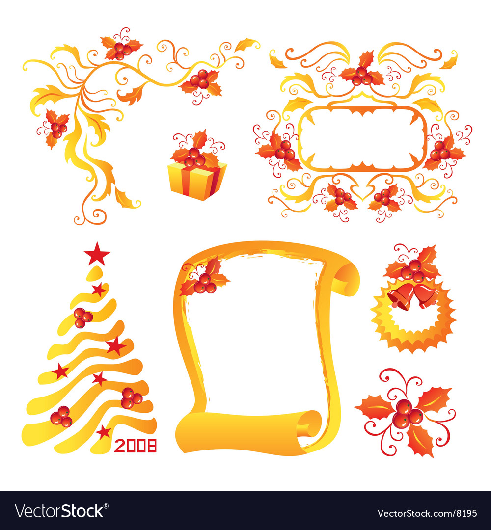 Holly berry vector | Price: 3 Credit (USD $3)