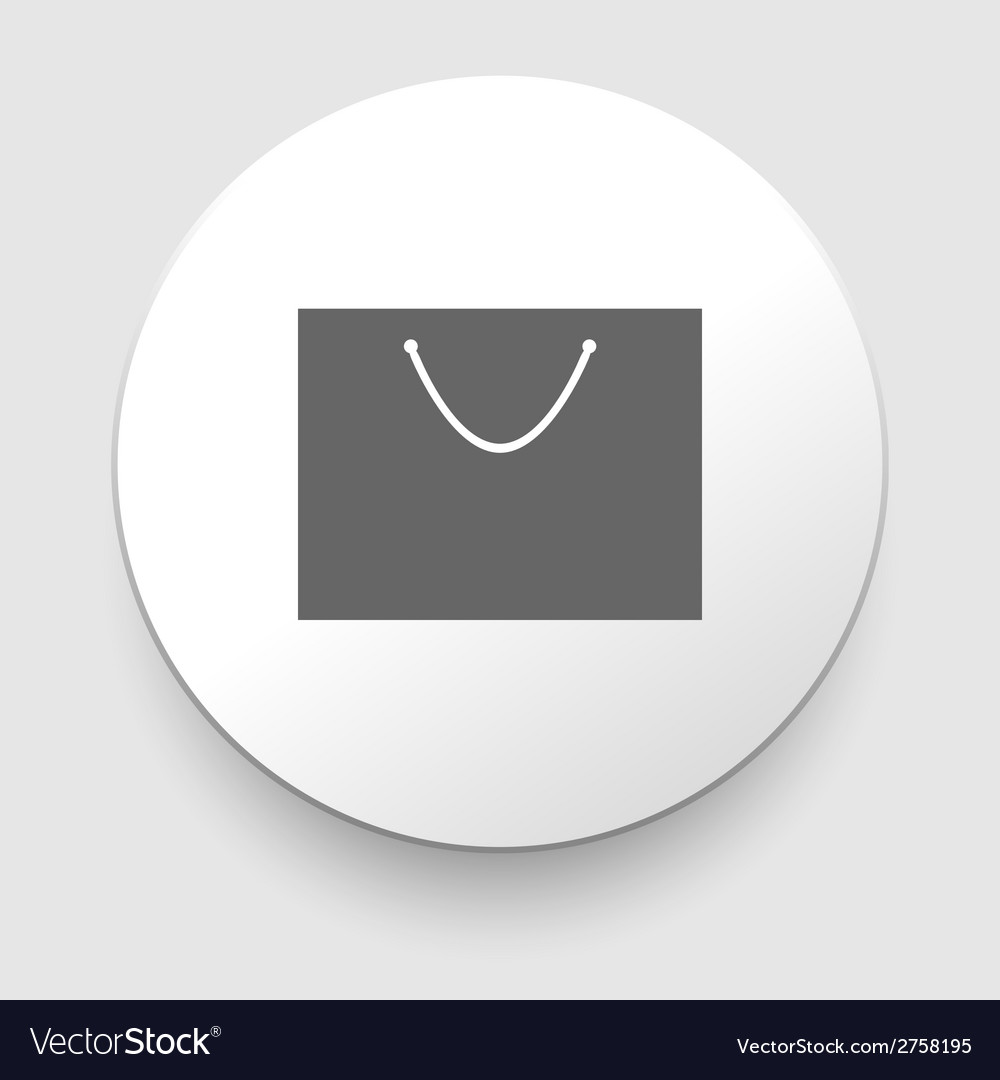 Shopping bag - isolated vector | Price: 1 Credit (USD $1)