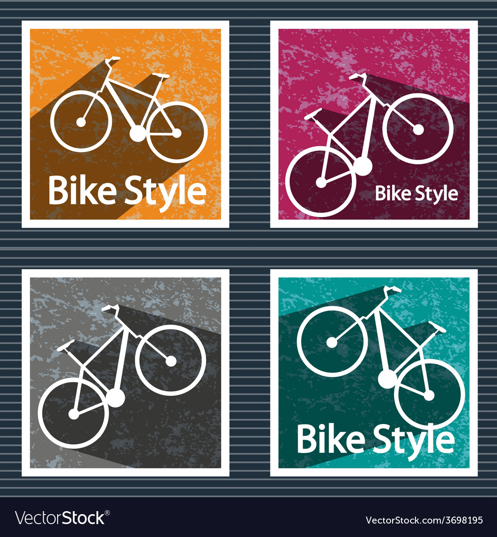 Simple flat images bike on the background vector   Price: 1 Credit (USD $1)