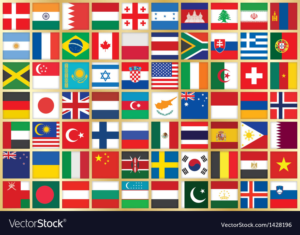 Background with flag icons vector | Price: 3 Credit (USD $3)