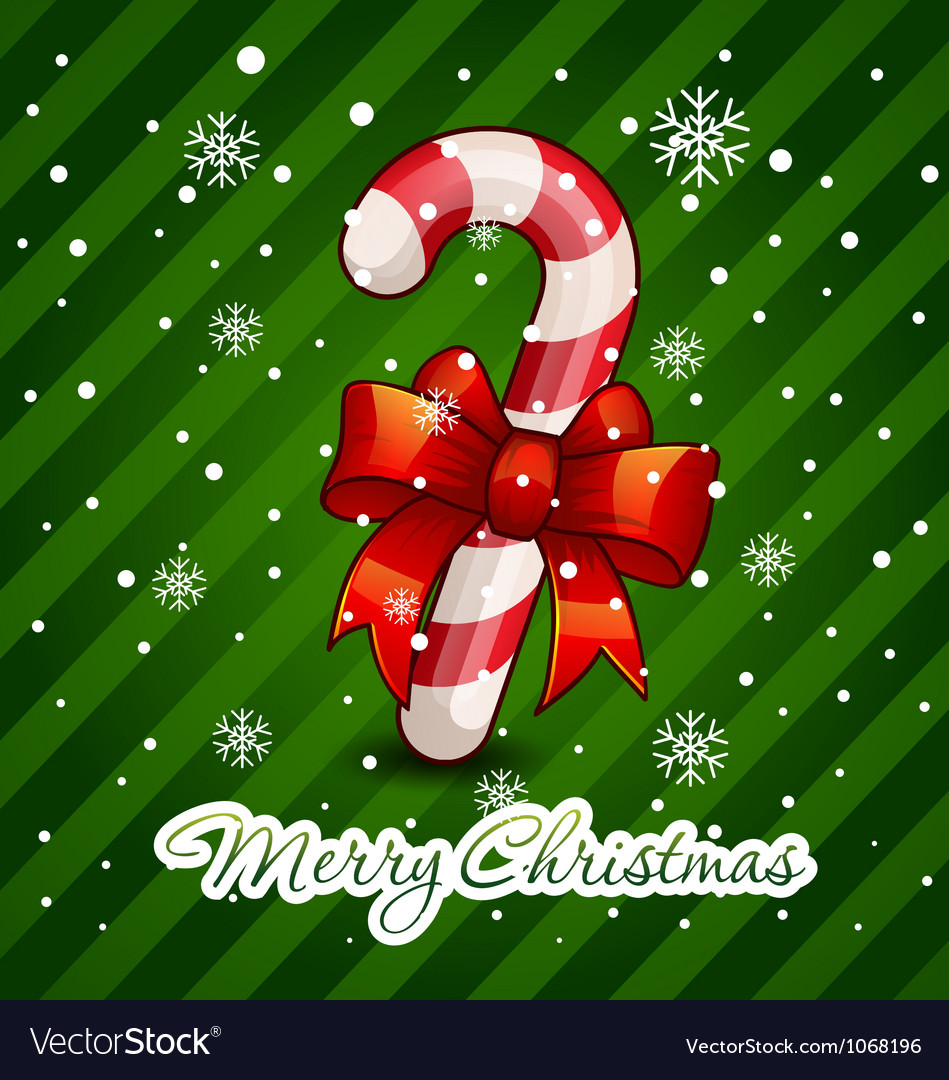 Christmas candy cane decorated vector | Price: 3 Credit (USD $3)
