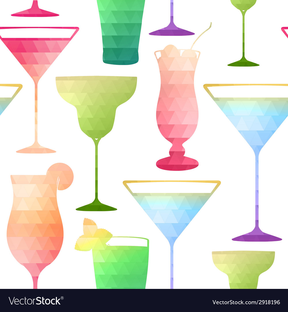 Seamless cocktail pattern vector | Price: 1 Credit (USD $1)