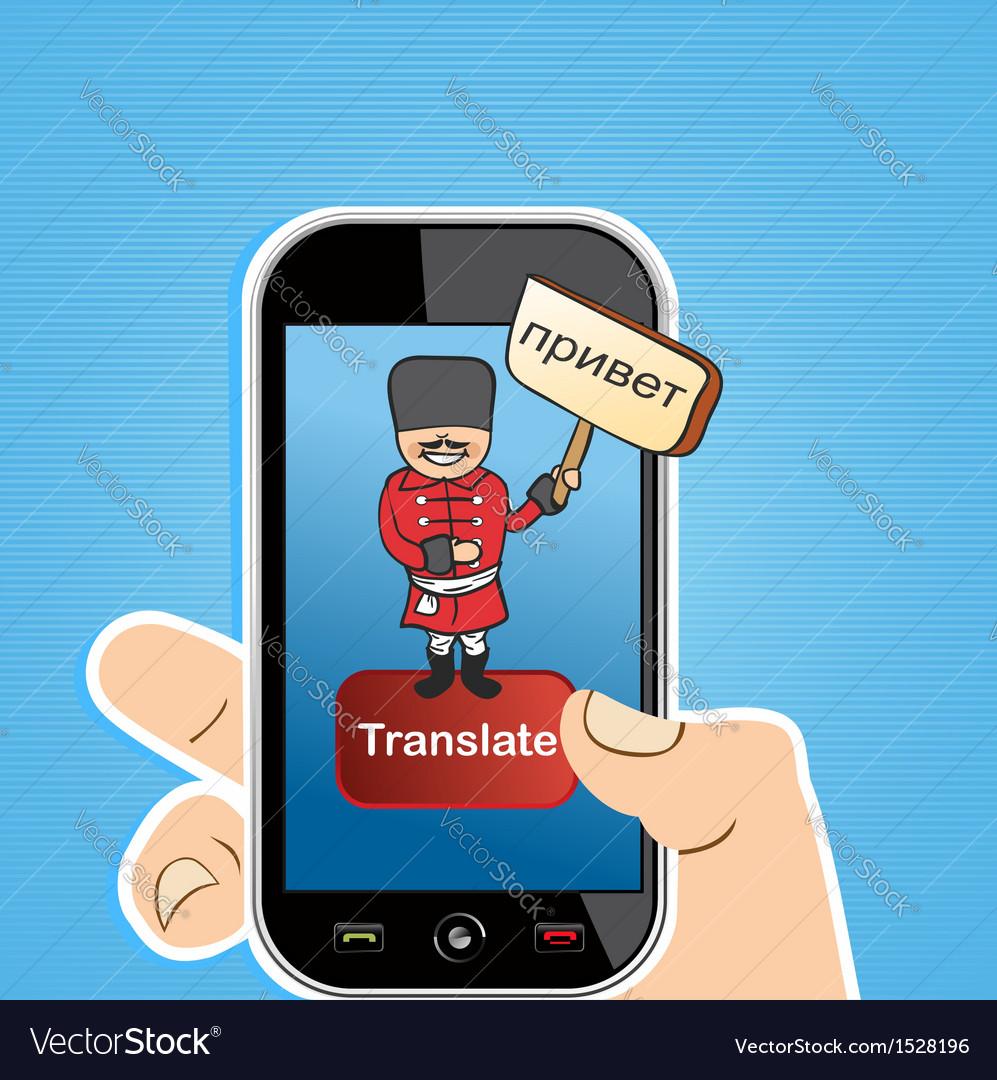 Smart phone translate app concept vector | Price: 1 Credit (USD $1)