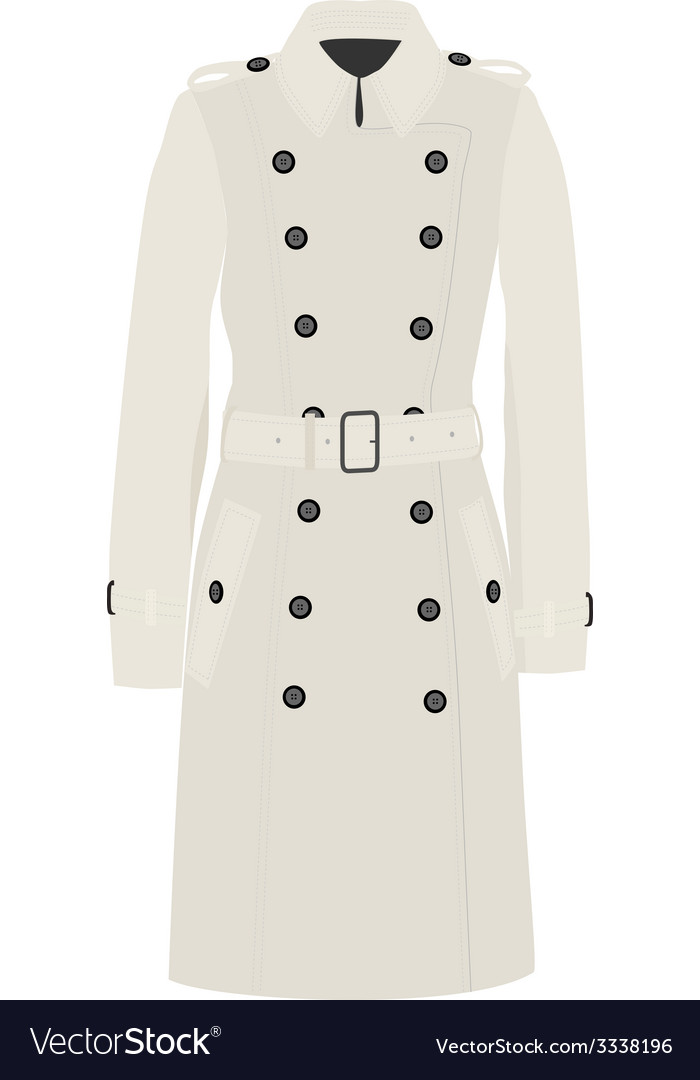 Trench coat vector | Price: 1 Credit (USD $1)