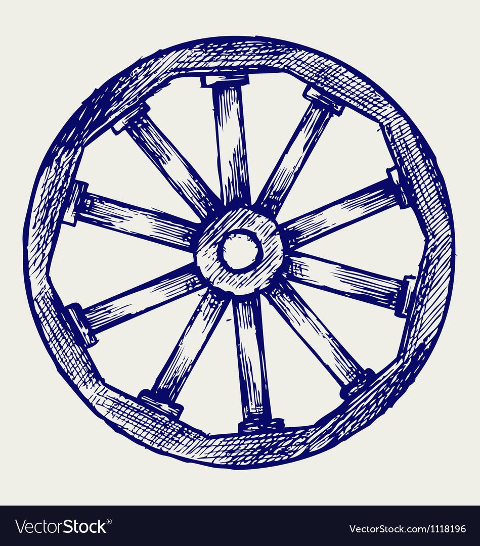 Wooden wheel vector   Price: 1 Credit (USD $1)