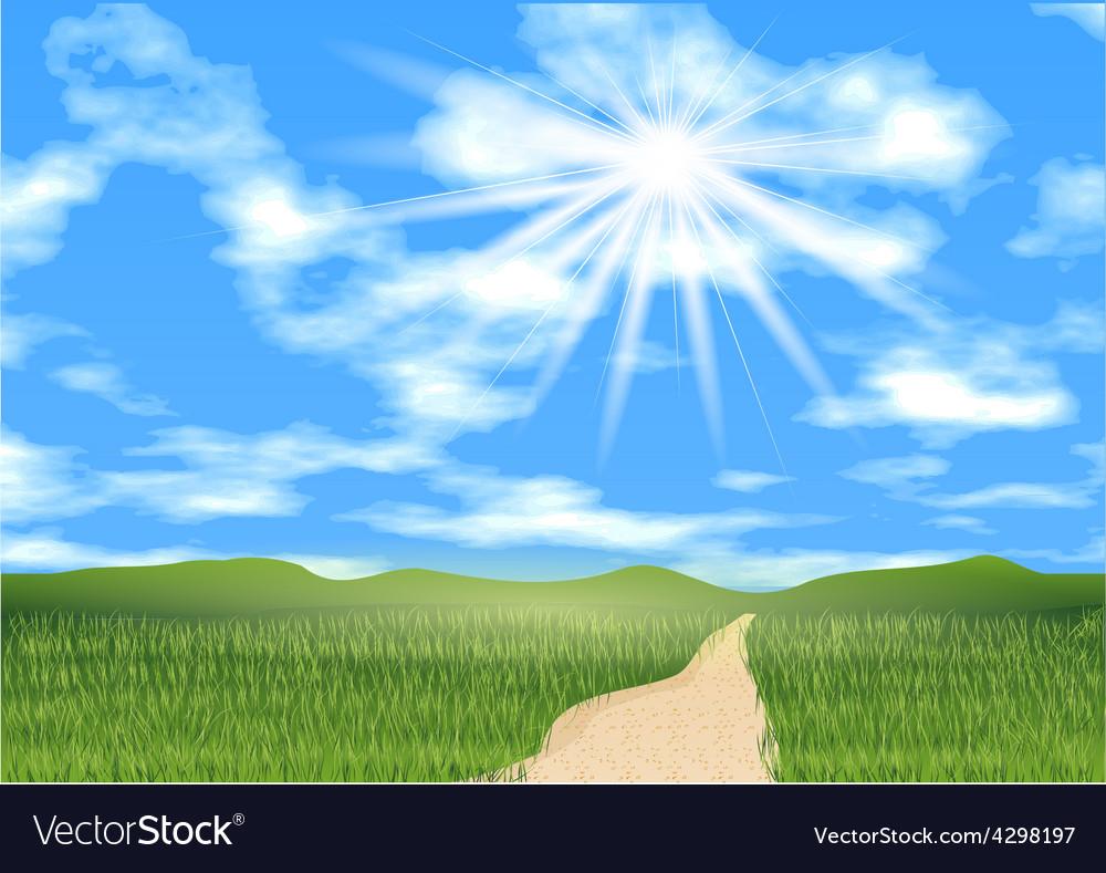 Blue sky ahead vector | Price: 1 Credit (USD $1)