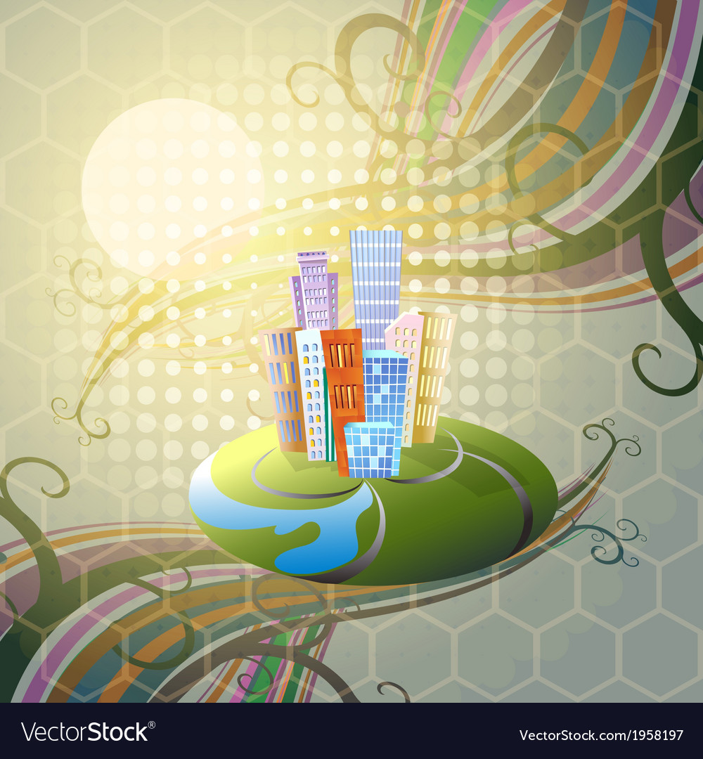 The fantastic city vector | Price: 1 Credit (USD $1)