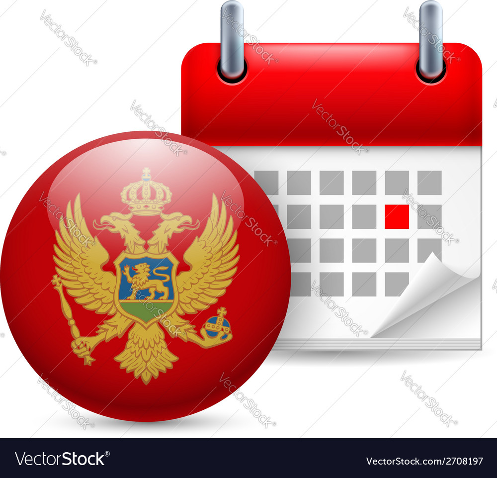 Icon of national day in montenegro vector | Price: 1 Credit (USD $1)