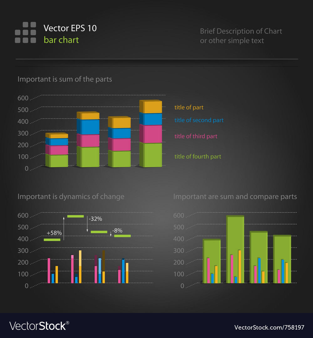 Infographics bar chart vector | Price: 1 Credit (USD $1)