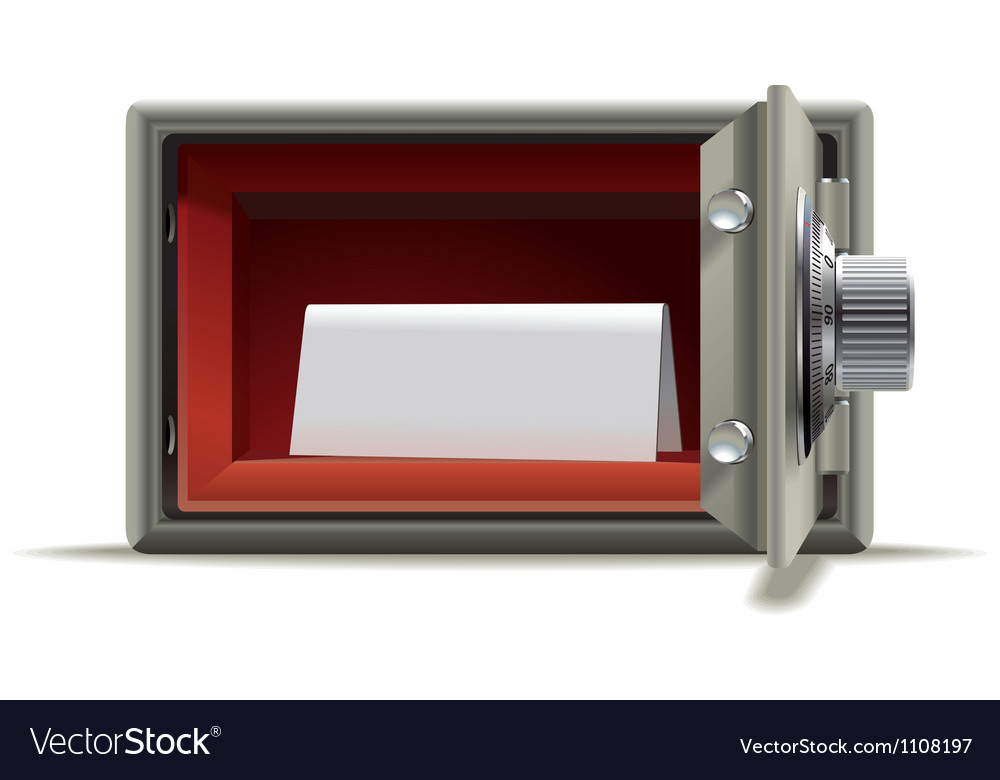 Safe deposit blank vector | Price: 1 Credit (USD $1)