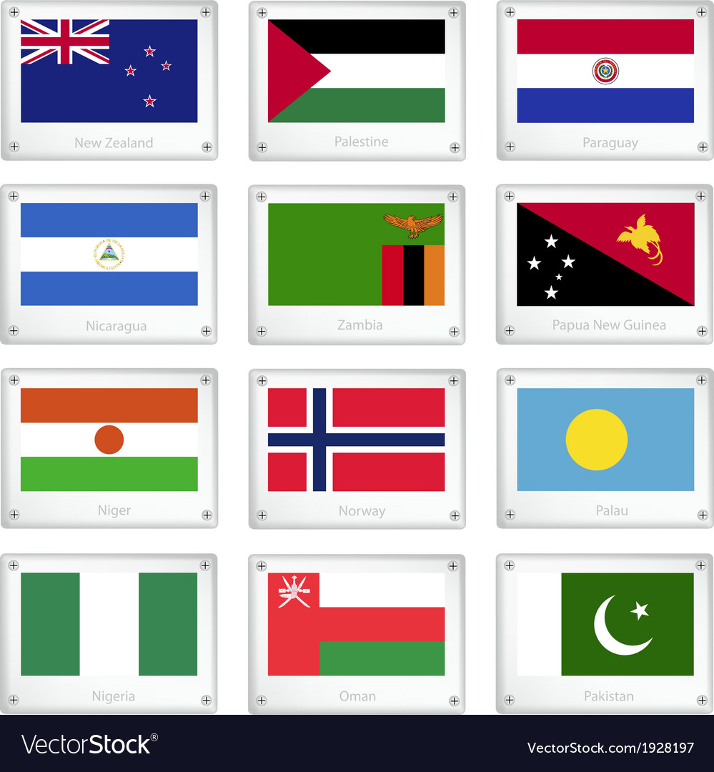 Two world flags on metal texture plates vector   Price: 1 Credit (USD $1)