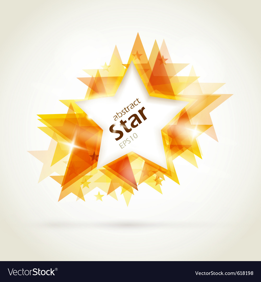 Abstract golden star vector | Price: 1 Credit (USD $1)