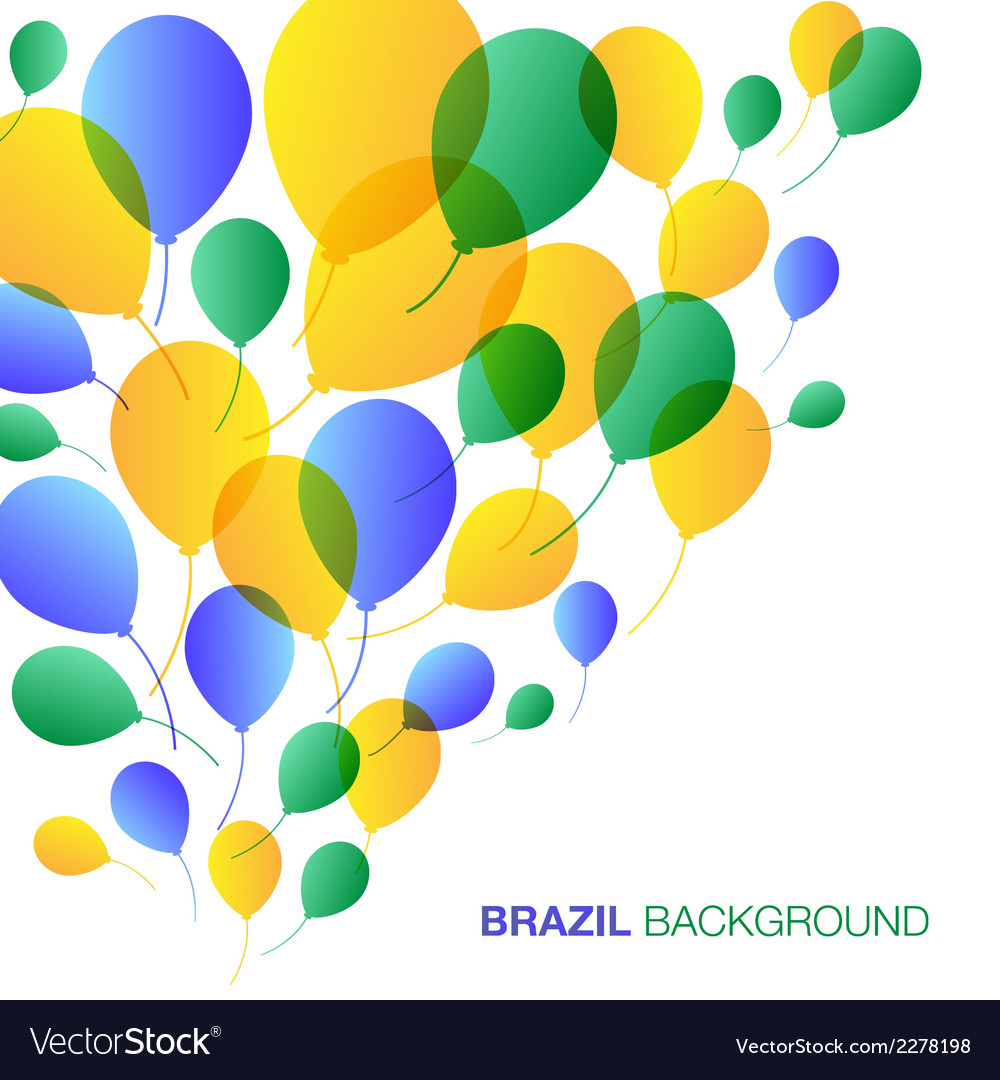 Balloons background using brazil flag colors vector | Price: 1 Credit (USD $1)