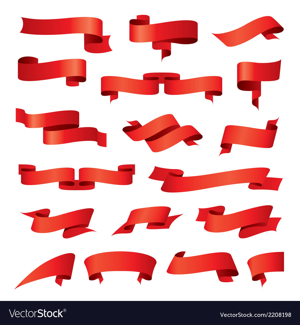 Biggest collection of red ribbons vector   Price: 1 Credit (USD $1)