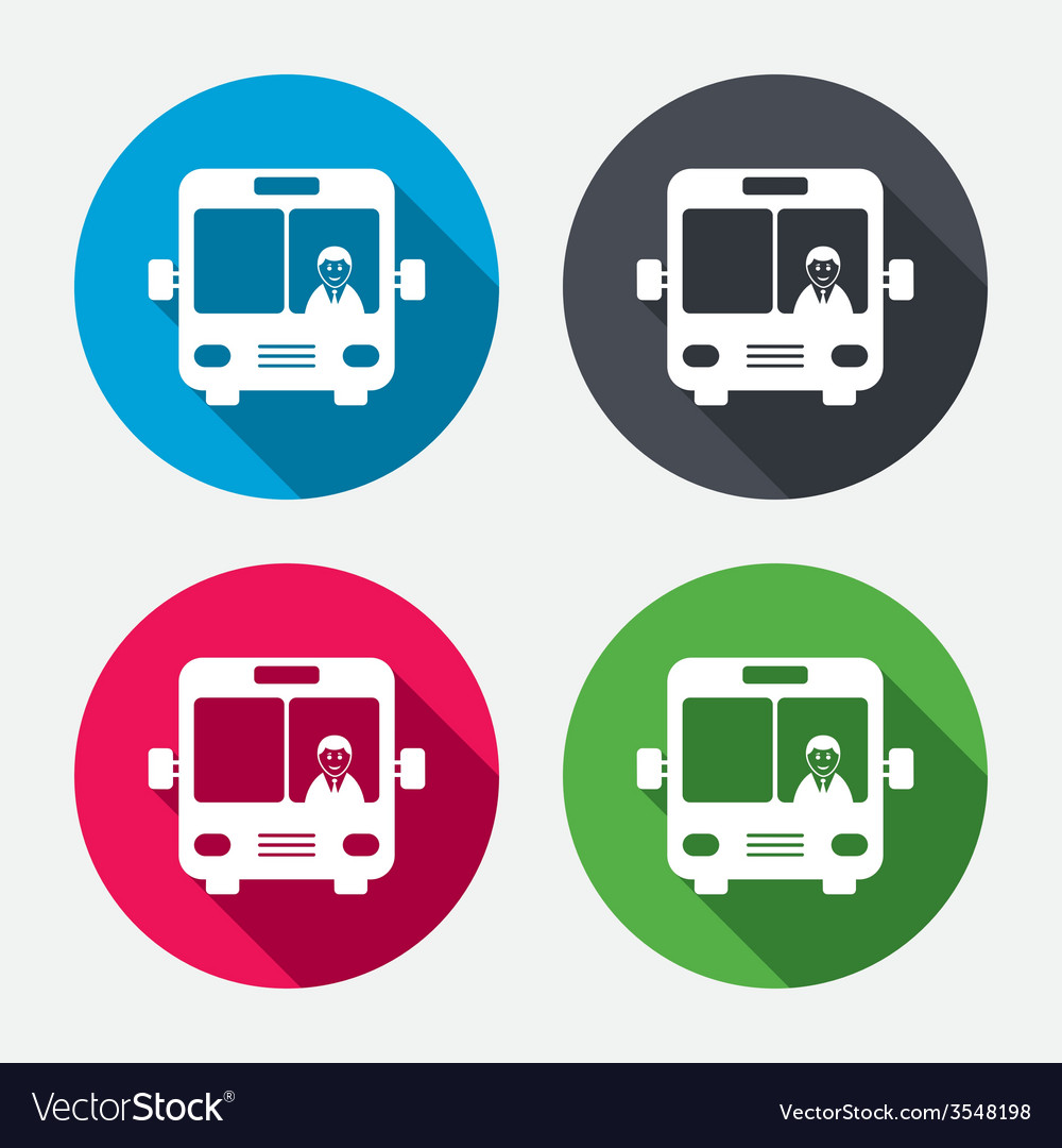 Bus sign icon public transport symbol vector | Price: 1 Credit (USD $1)