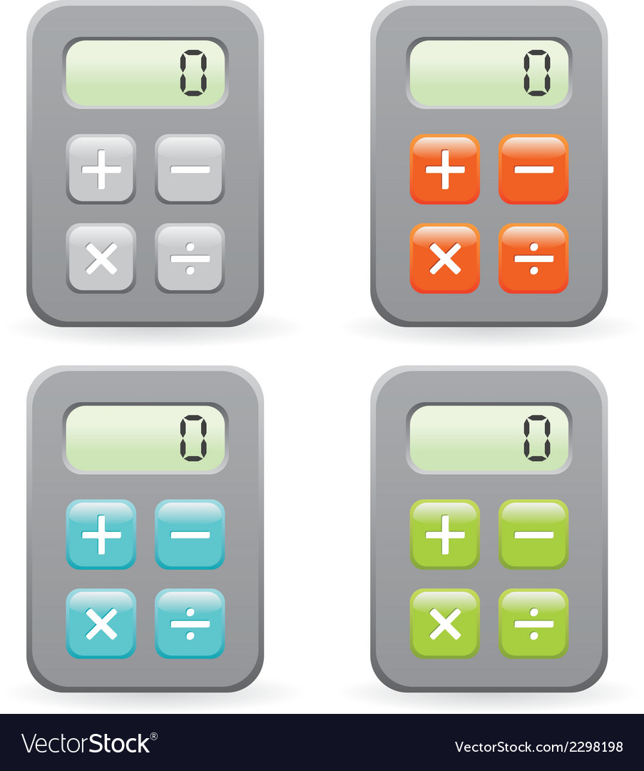 Calculator collection vector | Price: 1 Credit (USD $1)