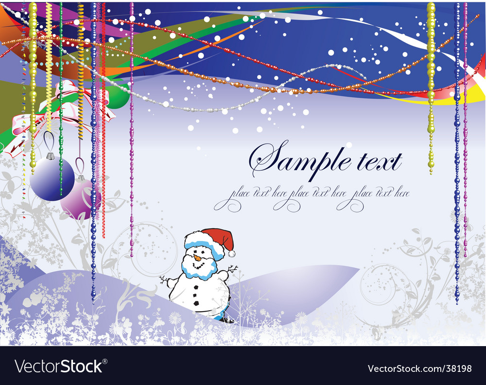 Christmas greeting card background vector | Price: 1 Credit (USD $1)