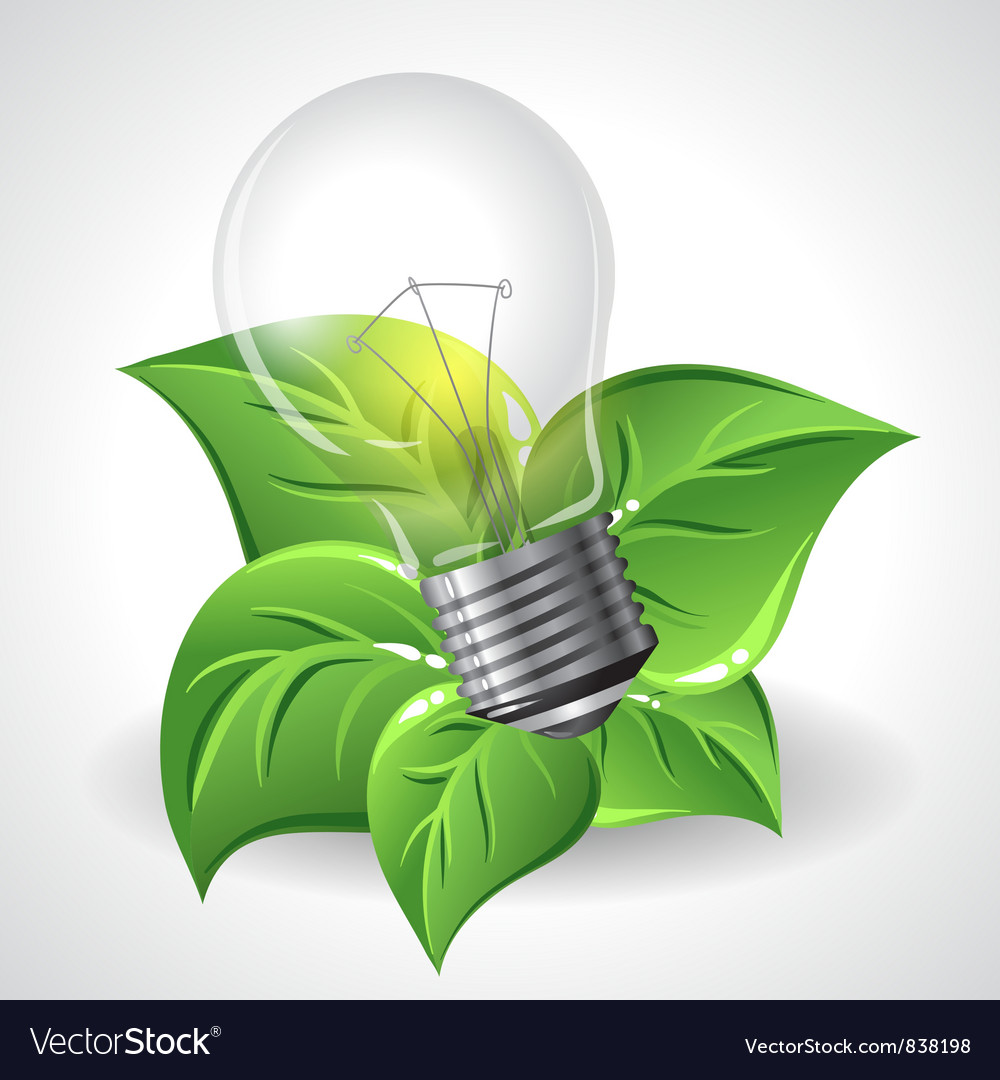 Green energy concept - power saving light bulbs vector | Price: 3 Credit (USD $3)