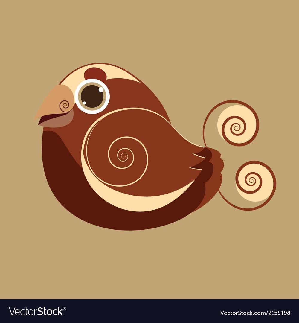 King bird cute bird abstract prehistoric color vector | Price: 1 Credit (USD $1)