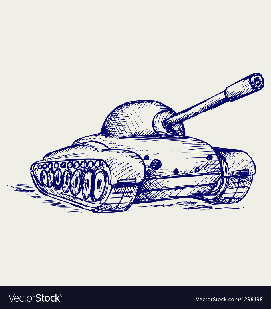Main battle tank vector | Price: 1 Credit (USD $1)
