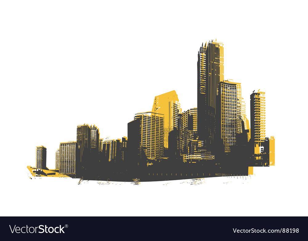 Retro skyscrapers vector | Price: 1 Credit (USD $1)