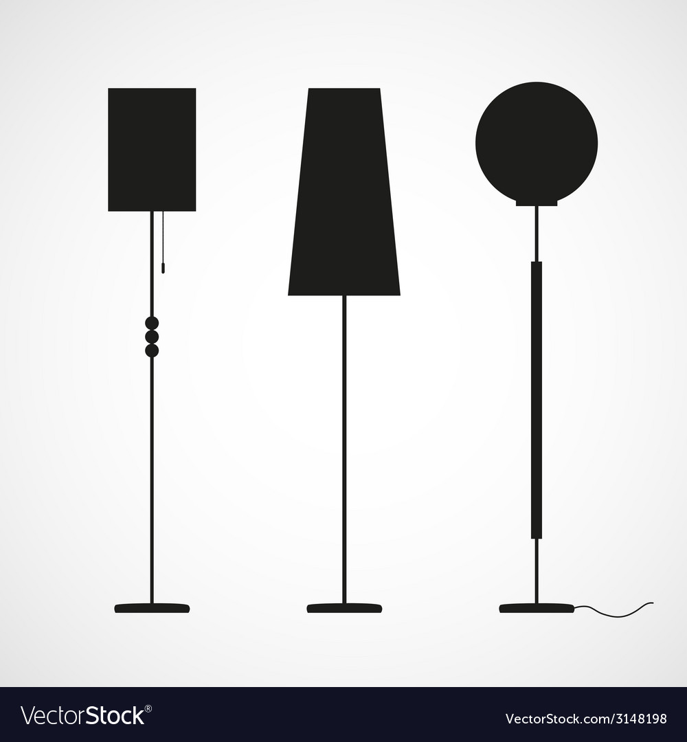 Silhouettes of floor lamps vector | Price: 1 Credit (USD $1)