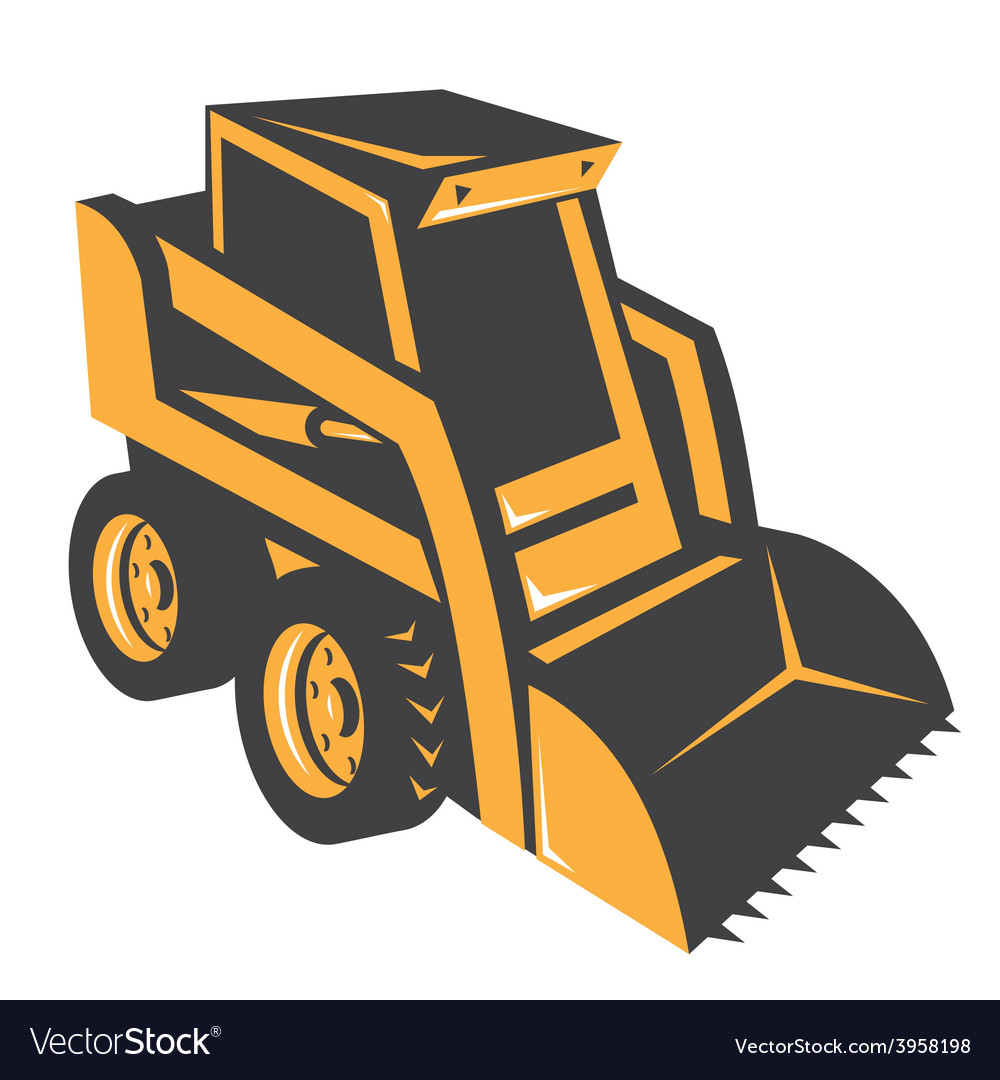 Skid steer digger truck vector | Price: 1 Credit (USD $1)