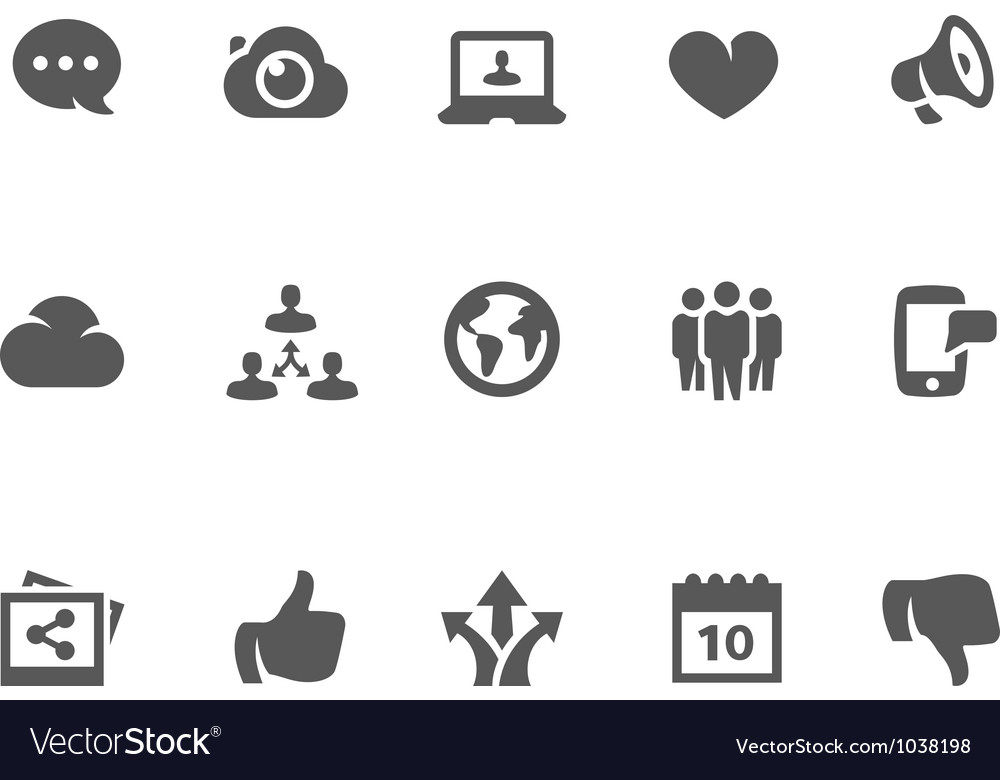 Social icon set vector | Price: 1 Credit (USD $1)