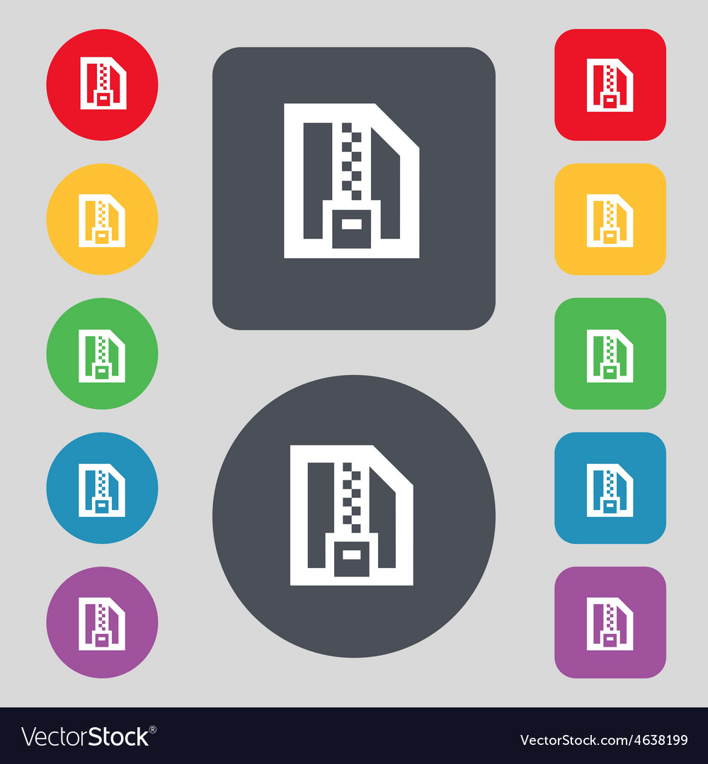 Archive file download compressed zip zipped icon vector | Price: 1 Credit (USD $1)