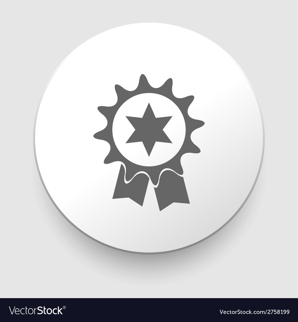 Badge with ribbons icon vector | Price: 1 Credit (USD $1)