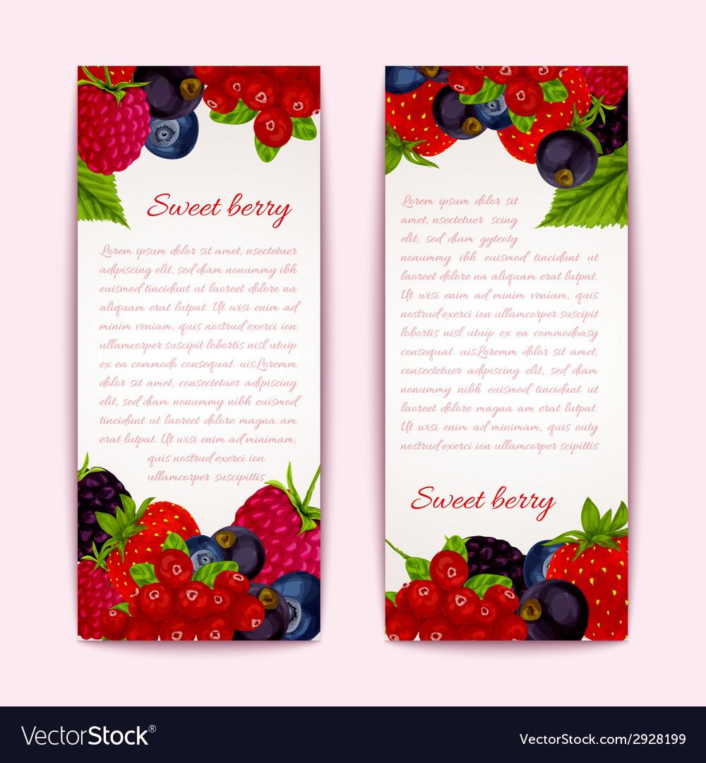 Berries banners vertical vector | Price: 1 Credit (USD $1)