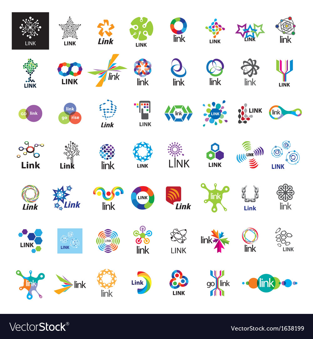 Biggest collection of logos link vector | Price: 1 Credit (USD $1)