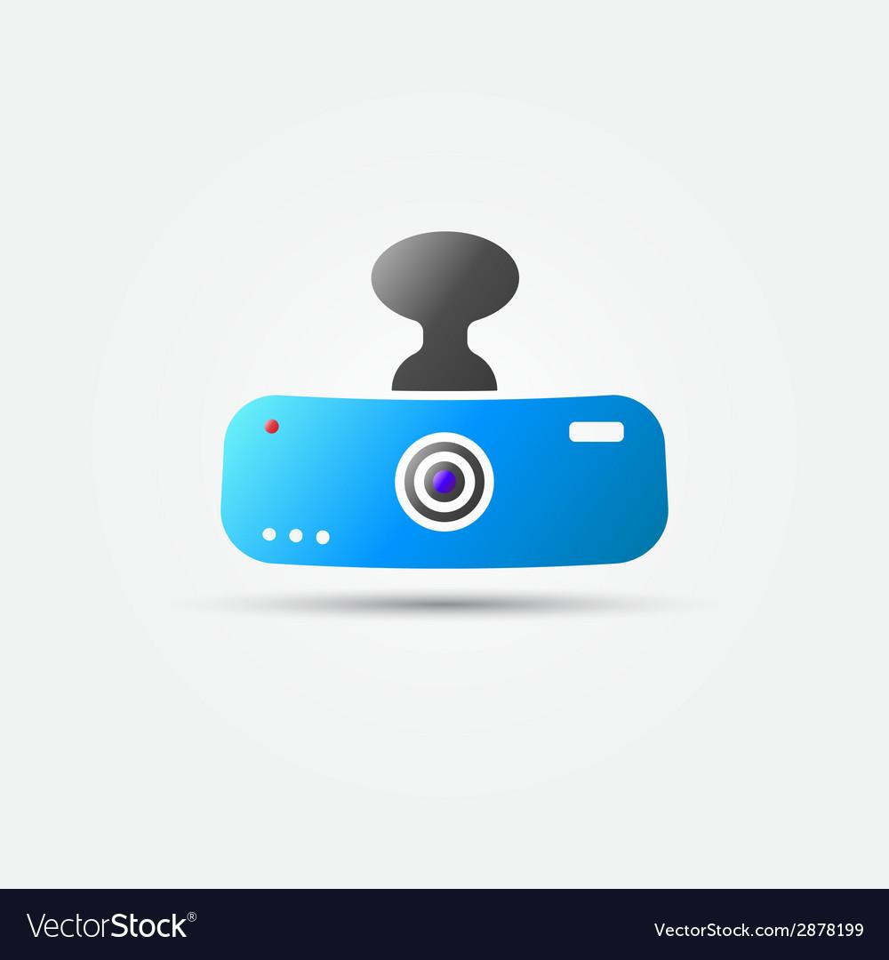 Bright car digital video recorder icon vector | Price: 1 Credit (USD $1)