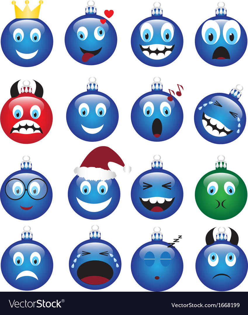 Christmas decorations-emotions vector | Price: 1 Credit (USD $1)