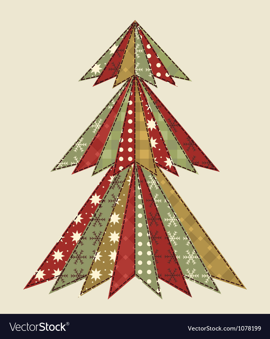 Christmas tree for scrapbooking 4 vector | Price: 1 Credit (USD $1)