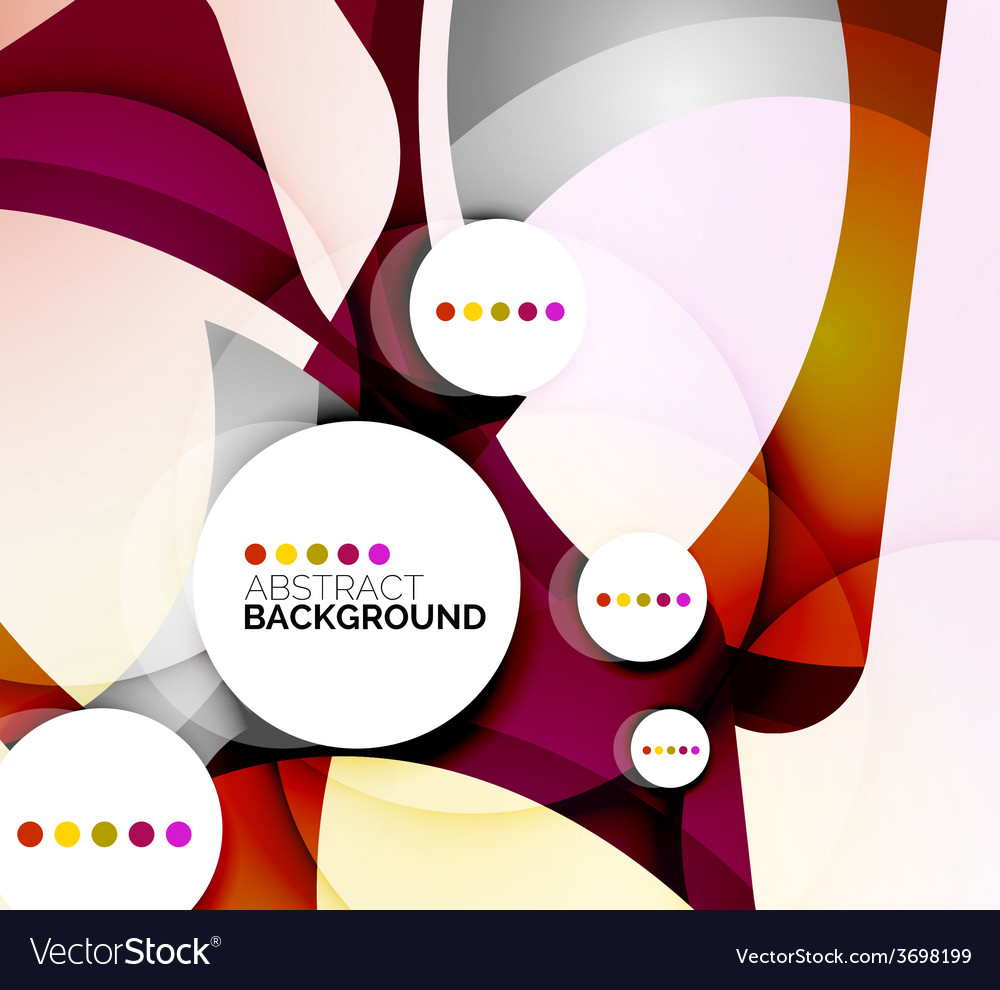 Colorful fresh modern abstract background vector | Price: 1 Credit (USD $1)