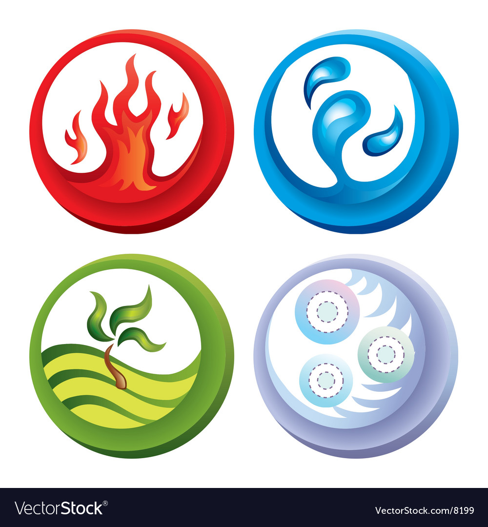 Fire and water icons vector | Price: 1 Credit (USD $1)