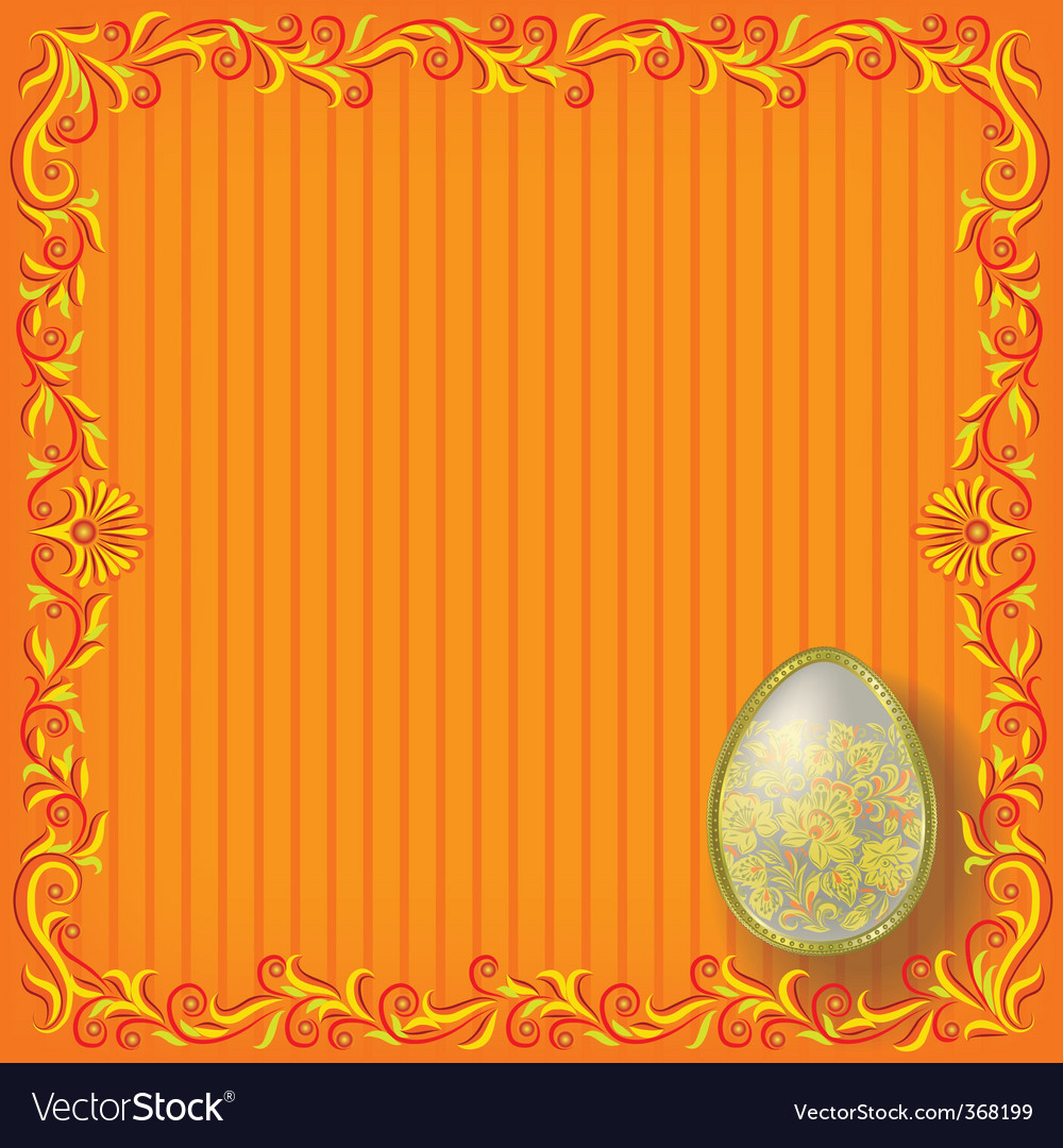 Floral easter background vector | Price: 3 Credit (USD $3)