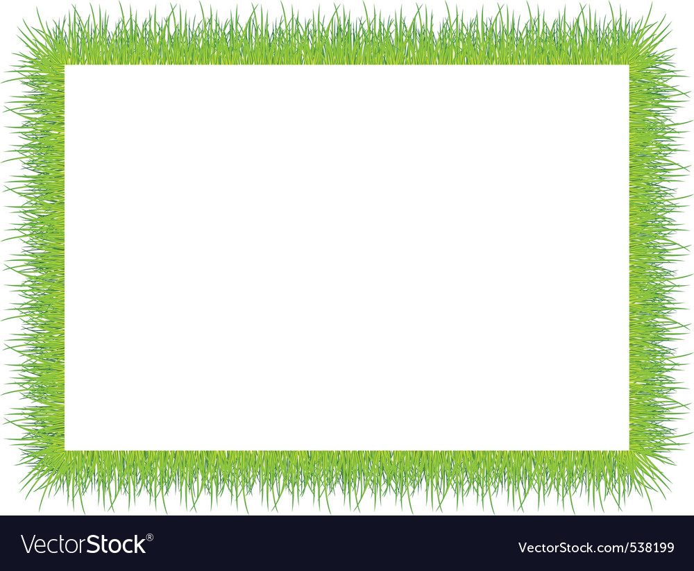 Frame with green grass vector | Price: 1 Credit (USD $1)