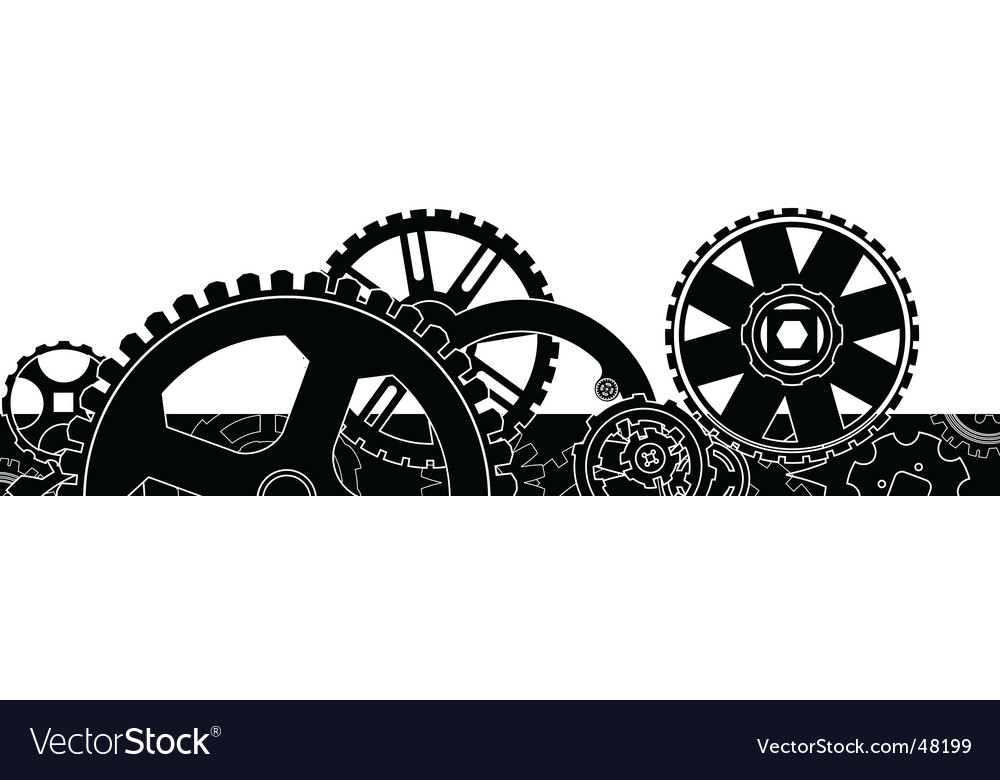 Gear box header footer vector | Price: 1 Credit (USD $1)
