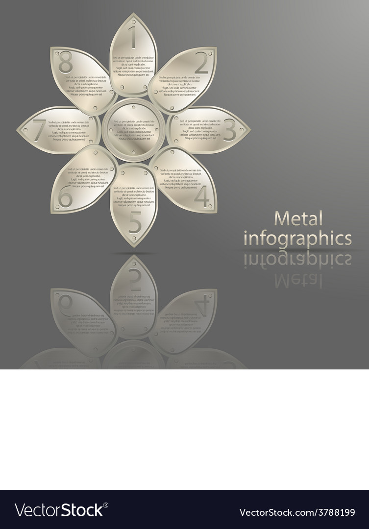 Infographics in metal style vector | Price: 3 Credit (USD $3)