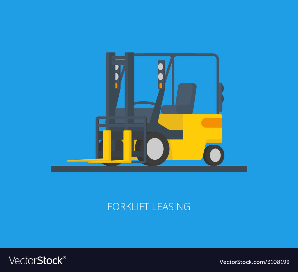 Yelllow forklift vector | Price: 1 Credit (USD $1)