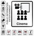 Entertainment information signs vector