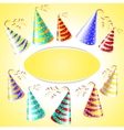 Cap holyday color carnaval holiday party hat vector