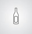 Wine bottle outline symbol dark on white vector