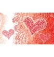 St valentine love red heart card vector