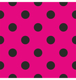 Tile pattern or background with black polka dots vector