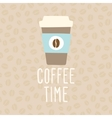 Coffee time cup to go vector