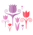 Abstract flowers origami vector