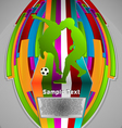 Summer sport design series soccer theme vector